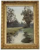 Signed, Antique Riverscape Painting