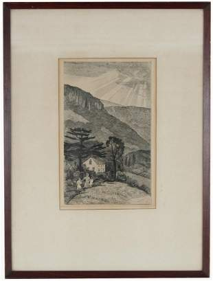 Israel Doskow (NY, Russia, Born 1881) Etching