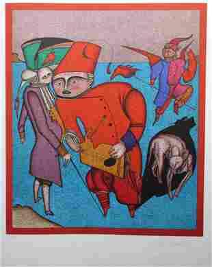 "Mihail Chemiakin (B 1943) ""Untitled VIII"" (36/225)"
