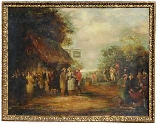 19th C. European School Tavern Scene