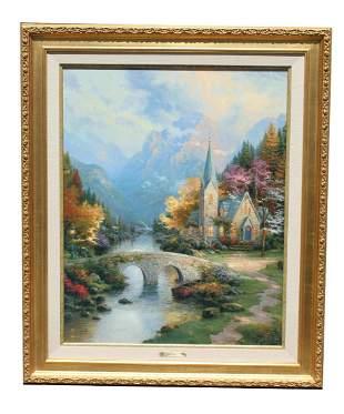 """Thomas Kinkade """"Mountain Chapel"""""""