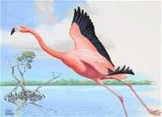 "Chuck Ripper (B. 1929) ""Flamingo"""