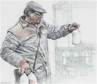 "Keith Bowen (B. 1950) ""The Milkman"""