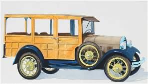 "Robert Seabeck (B. 1945) ""1929 Station Wagon"""