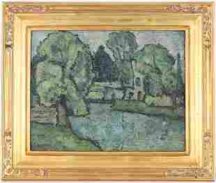 Swanson, Signed 20th C. River Landscape Painting