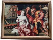 "16th C. Flemish ""Susanna and the Elders"""