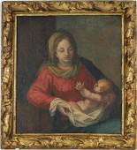 Old Master Painting of Mother and Child