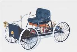 "Robert Seabeck (B. 1945) ""1896 Quadricycle"" W/C"