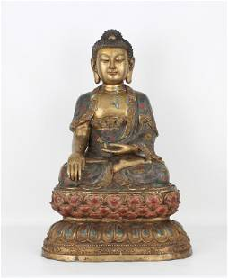 Important Chinese Cloisonne Buddha, Ex-Ringling Museum
