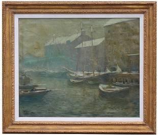 Arthur C Goodwin (1864 - 1929) T-Wharf, Boston
