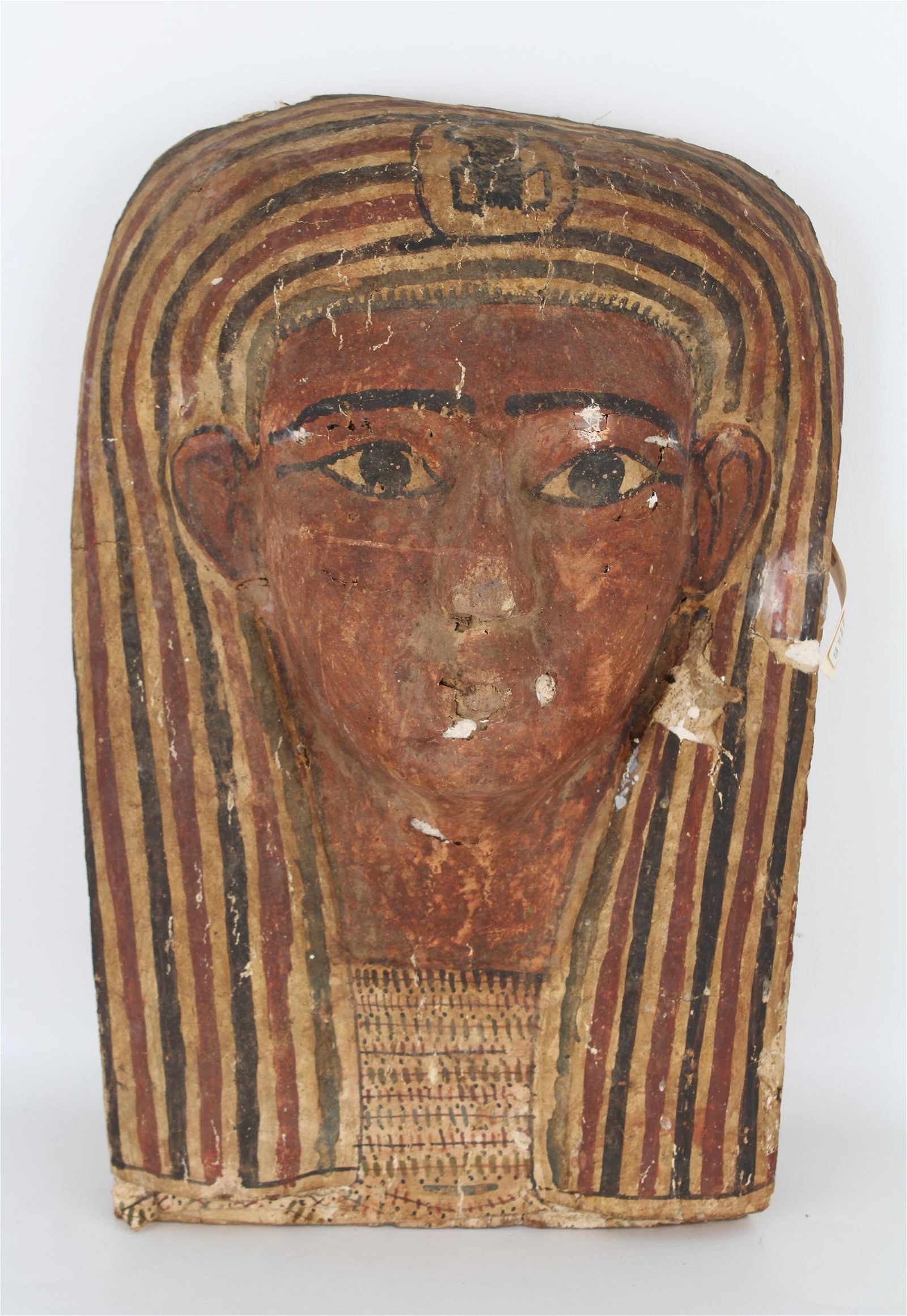 Antique Carved Wood Egyptian Bust