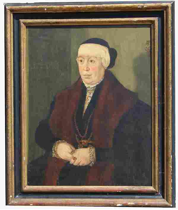 15th C. Old Master Portrait of a Woman