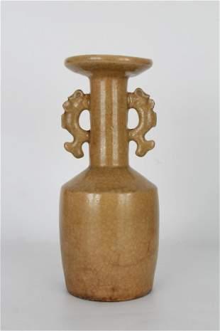 Chinese Song Dynasty Longquan Glazed Kinuta Vase
