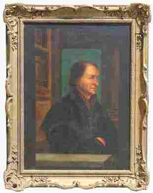 Dutch School, 19th C. Portrait of a Gentleman