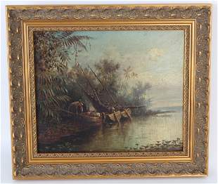 "Frederick Schafer (1839 - 1927) ""On the Amazon"""