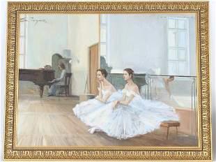 Seymour, Signed Painting of Ballerinas