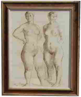 "Francisco Zuniga (1912 - 1998) ""Standing Nudes"""