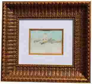 """Dora Webb, """"Ariel"""" Exhibited Watercolor"""