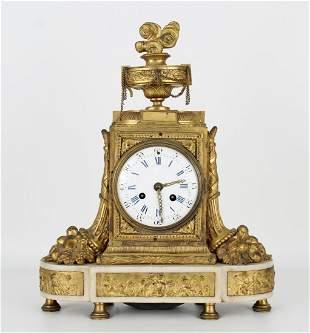 19th C. French Gilt Bronze Mantel Clock