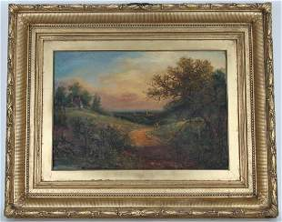 19th C. Continental Scool Landscape Painting
