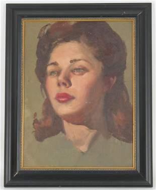 Edward Leonard (1901 - 1968) Portrait of a Woman