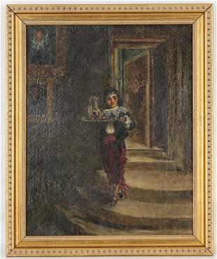 19th C. Continental School Interior Scene