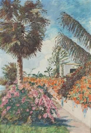 Florida School, 20th C. Tropical Landscape