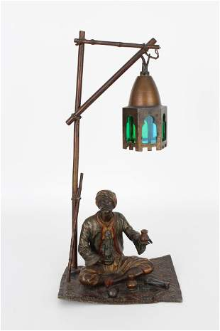 Austrian Orientalist Bronze Figure/Lamp