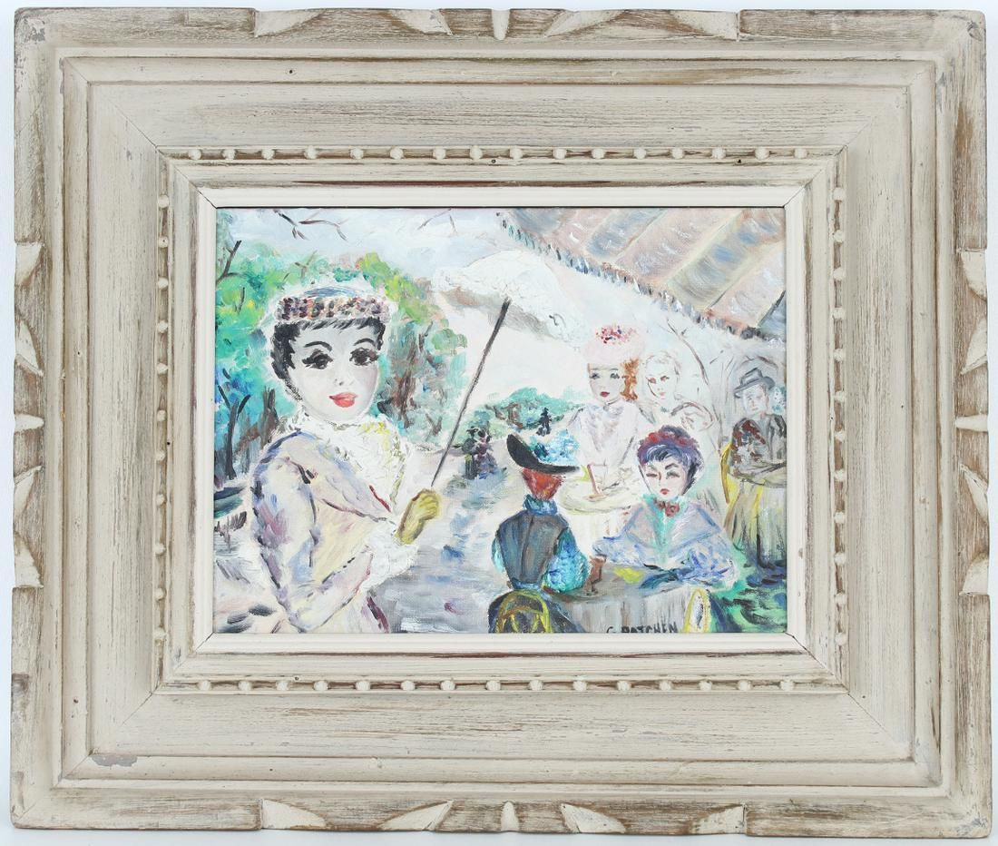 Signed, 20th C. Parisian Figural Painting