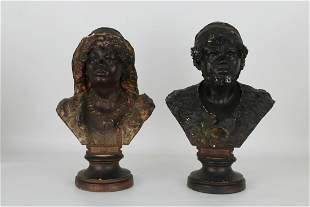 (2) Vintage Orientalist Figural Sculptures