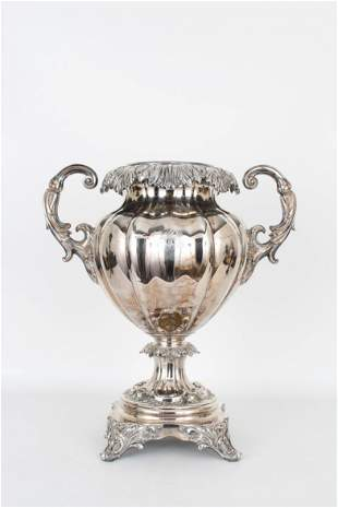 Antique Silverplate Twin-Handled Urn