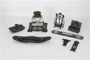 Bronze Art Nouveau Reed and Barton Desk Set