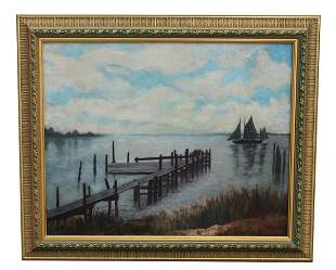 J Gibson 'Indian River, FL' Painting
