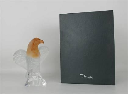 Daum France, Crystal Eagle w/ Original Fitted Box