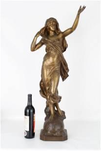 "Eugene Marioton (1857 - 1933) ""La Pensee"" Bronze"