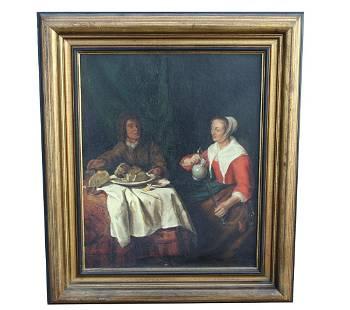 "Early Dutch School Painting, ""The Breakfast"""