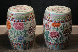 Pair of Chinese Porcelain Garden Stools