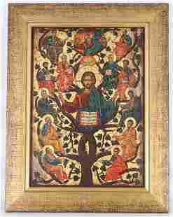 20th C. Figural Russian Icon