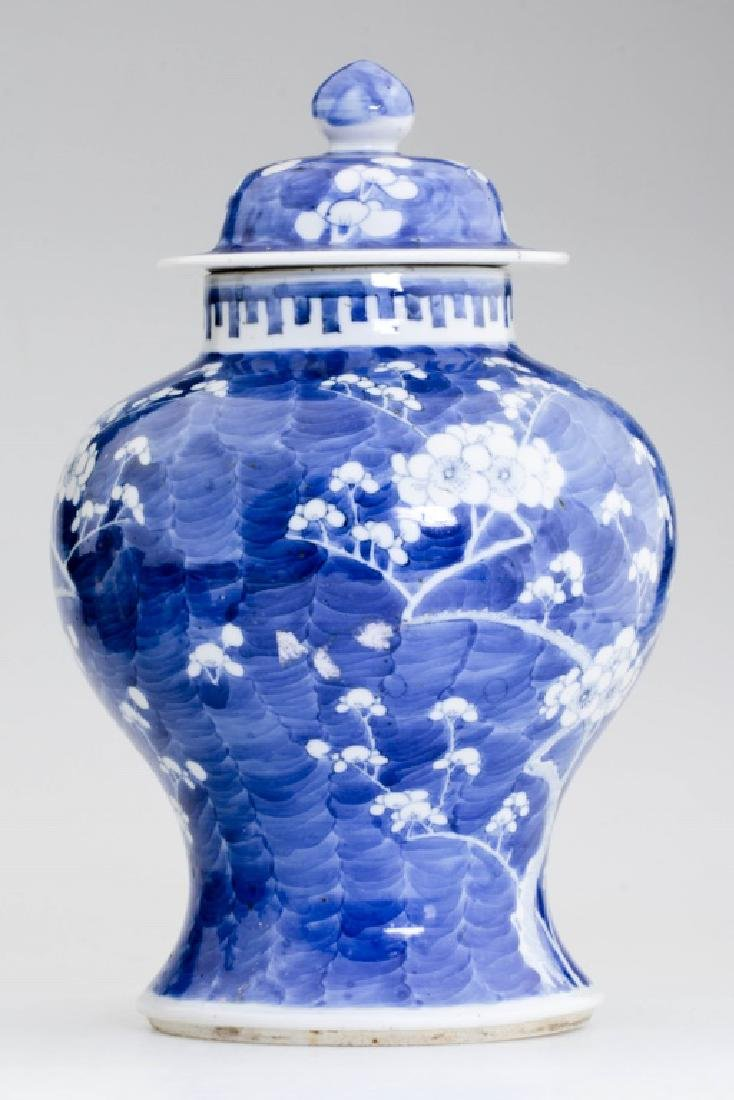 A Large Chinese Blue and White Jar and Lid - 2