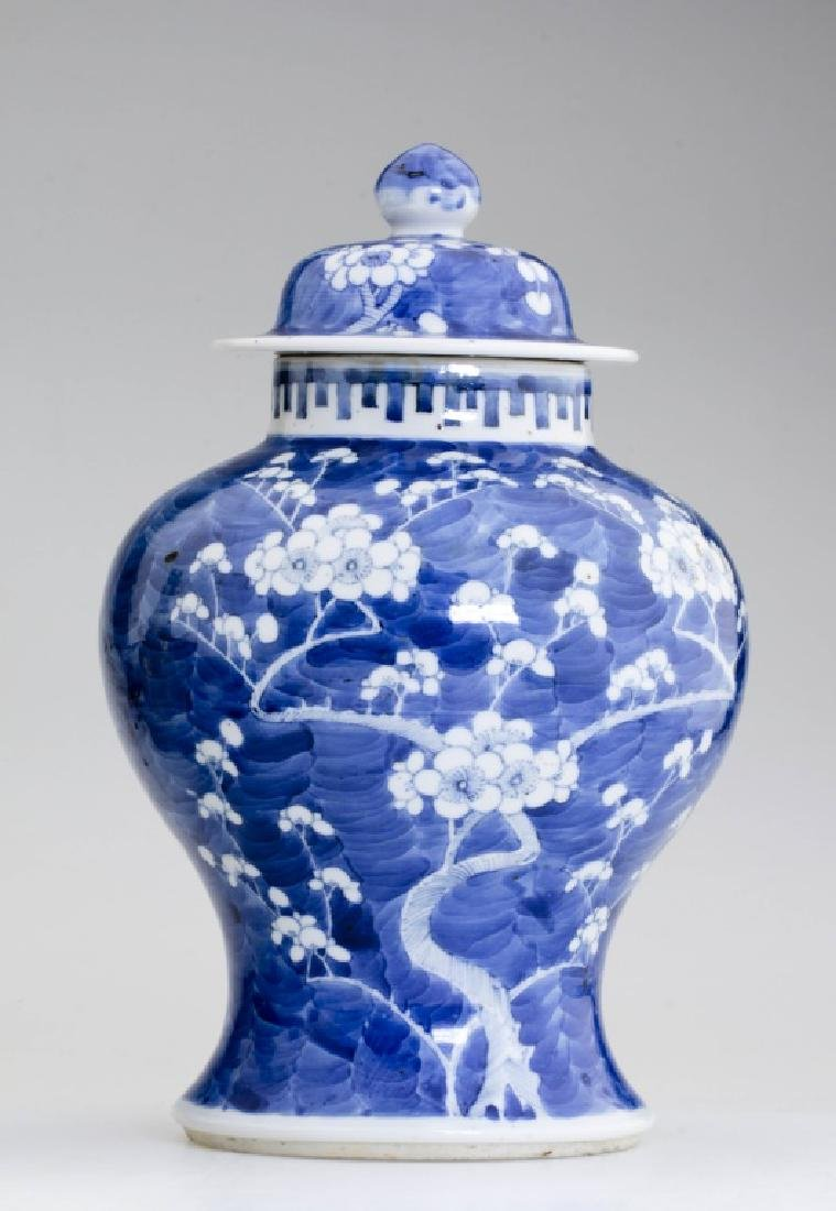 A Large Chinese Blue and White Jar and Lid - 4