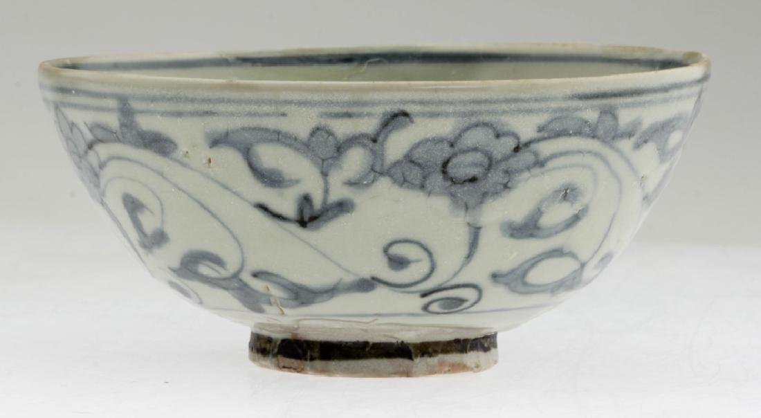 Chinese Ming Dynasty Blue and White Porcelain Bowl - 2