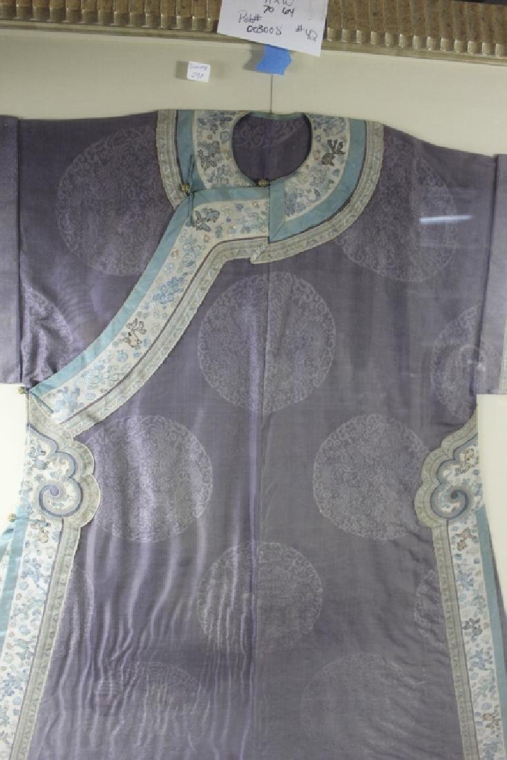 A Rare Magnificent Framed Chinese Dragon Robe. - 10