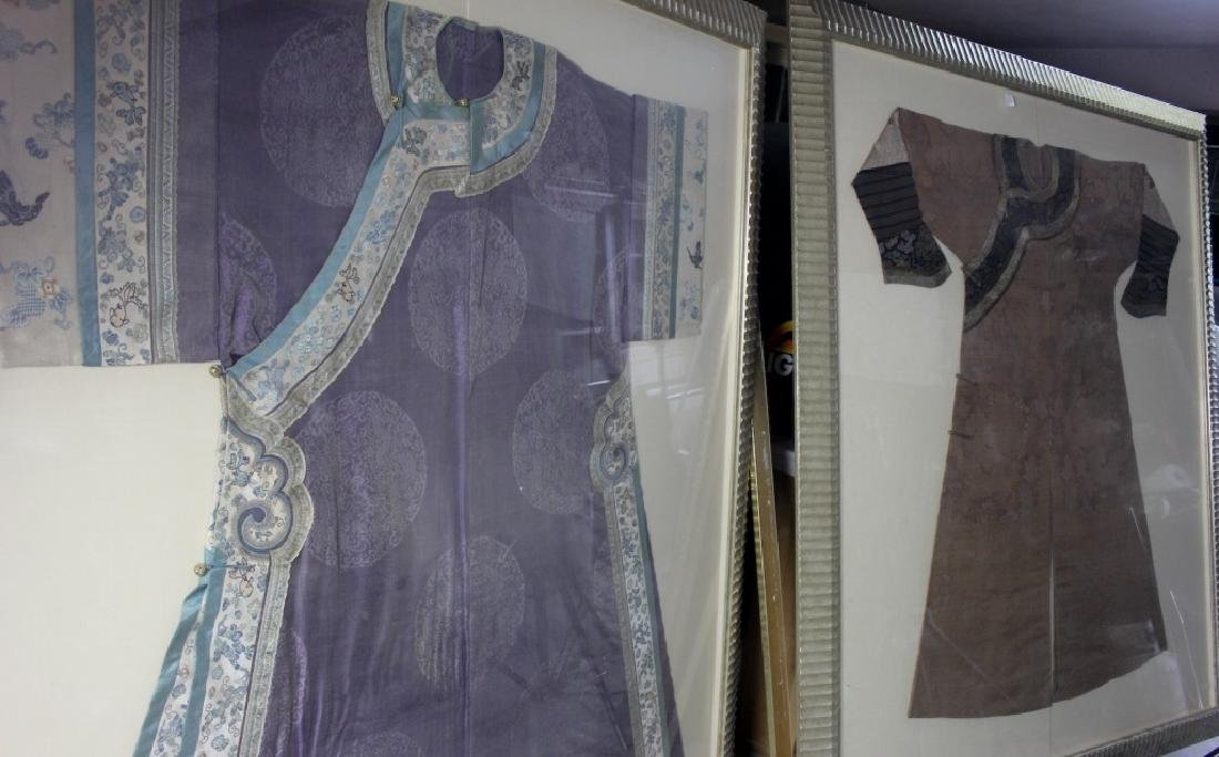 A Rare Magnificent Framed Chinese Dragon Robe. - 16