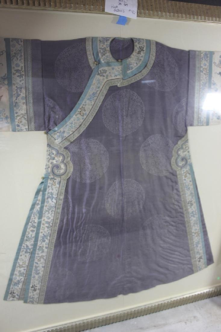 A Rare Magnificent Framed Chinese Dragon Robe. - 2