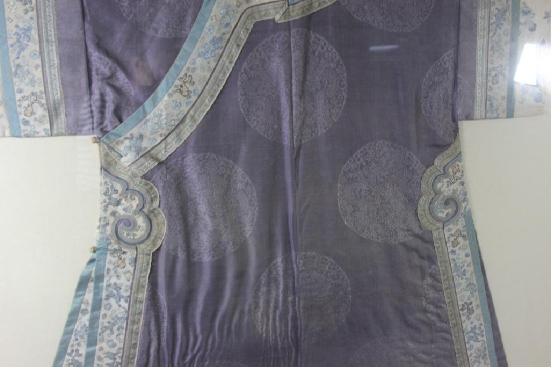 A Rare Magnificent Framed Chinese Dragon Robe. - 5