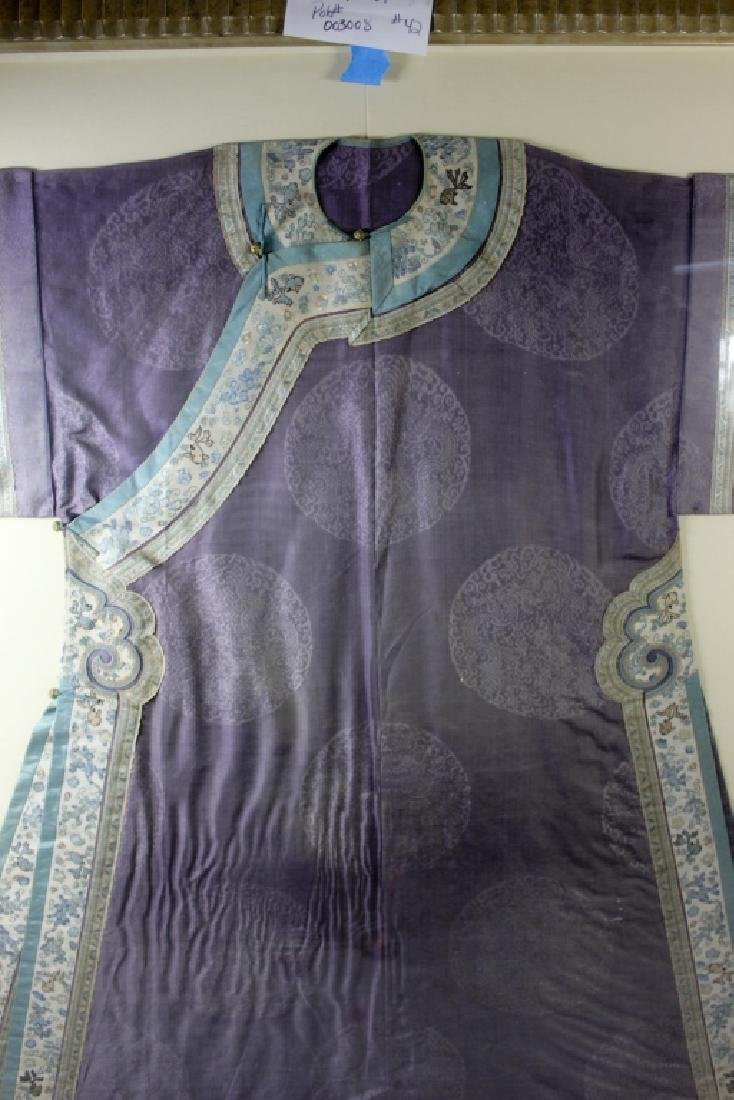 A Rare Magnificent Framed Chinese Dragon Robe. - 7