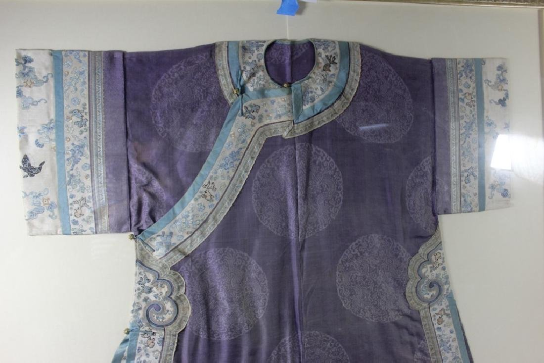 A Rare Magnificent Framed Chinese Dragon Robe. - 8