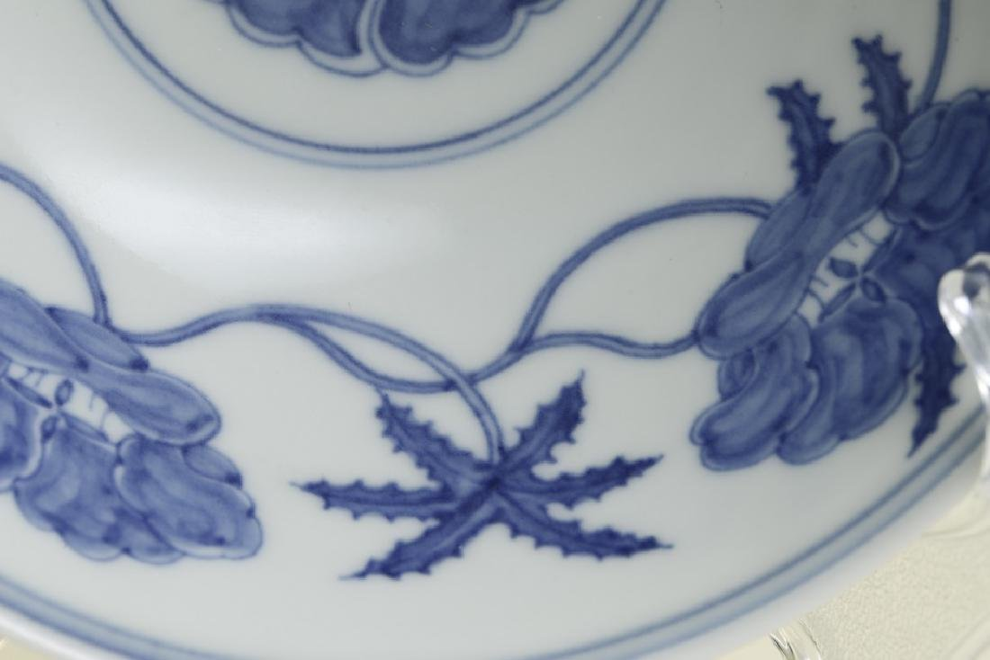 A nice Chinese blue and white bowl - 5