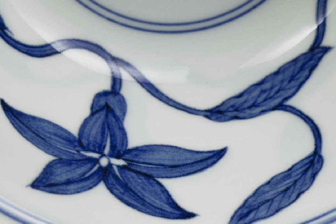 A superb Chinese blue and white bowl - 5