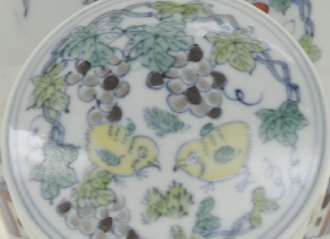 """A rare Chinese Dou Cai """"Tian Zi Guan - 5"""